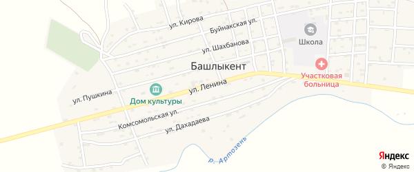 Улица Ленина на карте села Башлыкента с номерами домов