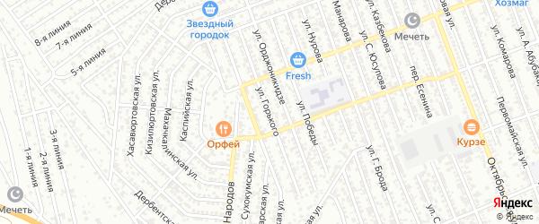 Улица М.Горького на карте Избербаша с номерами домов