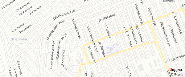 Улица Орджоникидзе на карте Избербаша с номерами домов