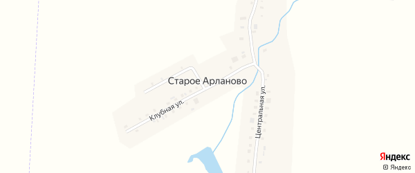 Улица Хмелеводов на карте деревни Старое Арланово с номерами домов