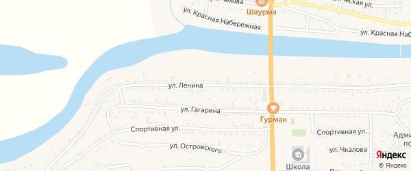 Улица Ленина на карте поселка Красные Баррикады с номерами домов