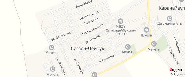 Улица Ленина на карте села Сагаси-Дейбука с номерами домов