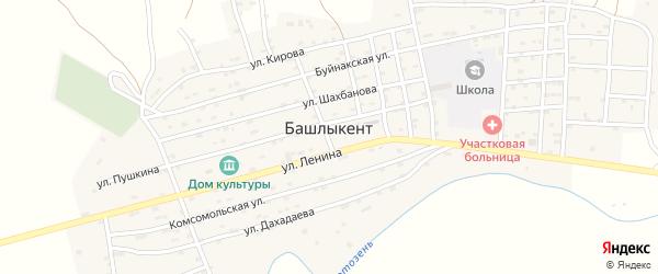 Улица Агаева Агава на карте села Башлыкента с номерами домов