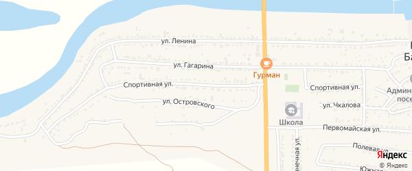 Спортивная улица на карте поселка Красные Баррикады с номерами домов