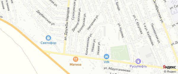 Количинская улица на карте Избербаша с номерами домов