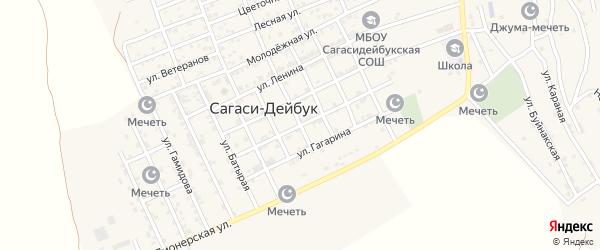 Пролетерская улица на карте села Сагаси-Дейбука с номерами домов