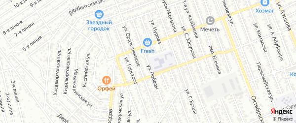 Улица Победы на карте Избербаша с номерами домов
