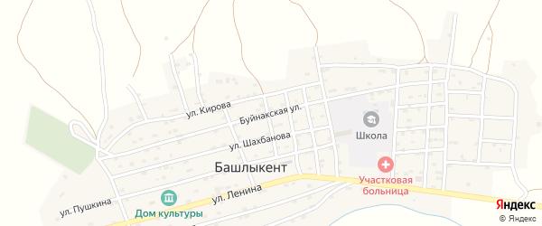 Буйнакская улица на карте села Караная Аула с номерами домов