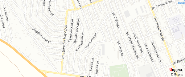 Нагорная улица на карте села Какашуры с номерами домов