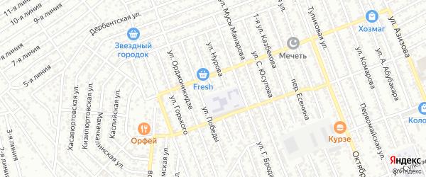 Улица Абдулманапова на карте Избербаша с номерами домов