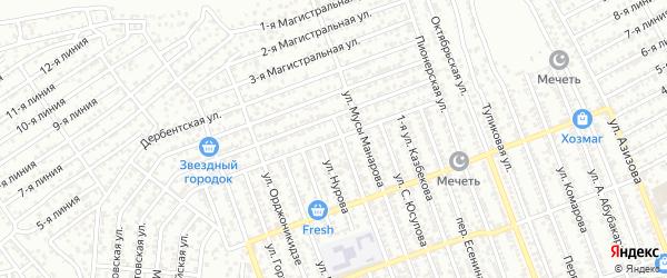 Улица Мусаева на карте Избербаша с номерами домов