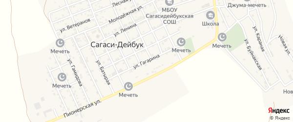 Улица Гагарина на карте села Сагаси-Дейбука с номерами домов