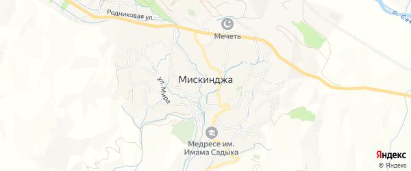 Карта села Мискинджи в Дагестане с улицами и номерами домов