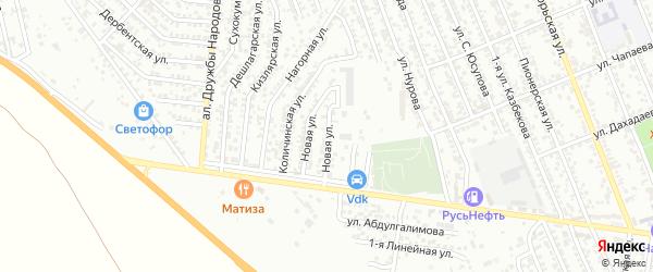 Новая улица на карте Избербаша с номерами домов