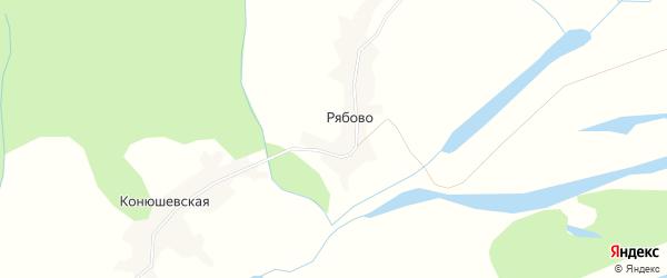 Карта деревни Рябово в Архангельской области с улицами и номерами домов