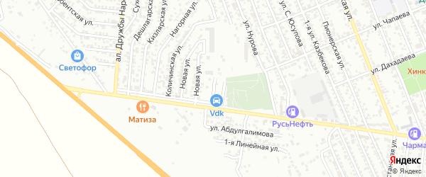 Улица 2-я С.Юсупова на карте Избербаша с номерами домов