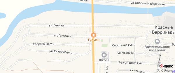 Улица Гагарина на карте поселка Красные Баррикады с номерами домов