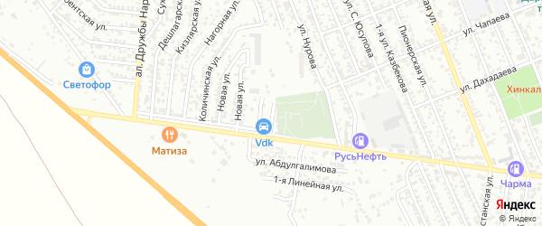1-я Новая улица на карте Избербаша с номерами домов
