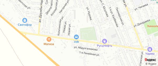 Улица 1-я С.Юсупова на карте Избербаша с номерами домов