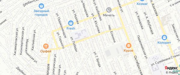 Улица Г.Брода на карте Избербаша с номерами домов