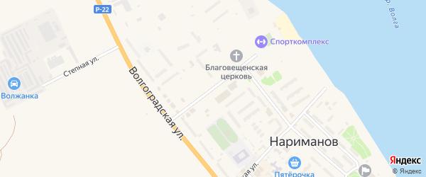 Проспект Строителей на карте Нариманова с номерами домов