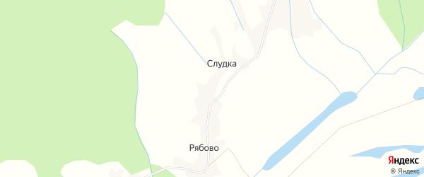 Карта деревни Слудки в Архангельской области с улицами и номерами домов