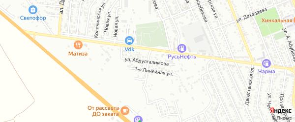 Улица Абдулгалимова на карте Избербаша с номерами домов