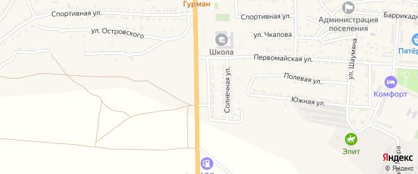 Магистральная улица на карте поселка Красные Баррикады с номерами домов