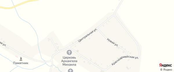 Центральная улица на карте села Тогаево с номерами домов