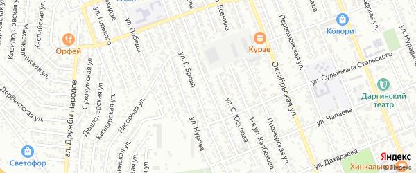 Улица Манарова на карте Избербаша с номерами домов