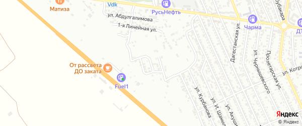 Улица Ч.Айтматова на карте Избербаша с номерами домов