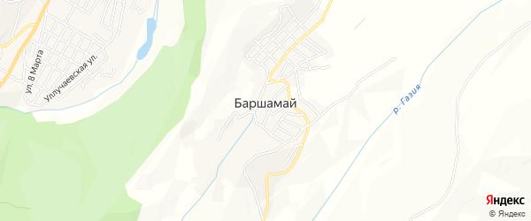 Карта села Баршамая в Дагестане с улицами и номерами домов