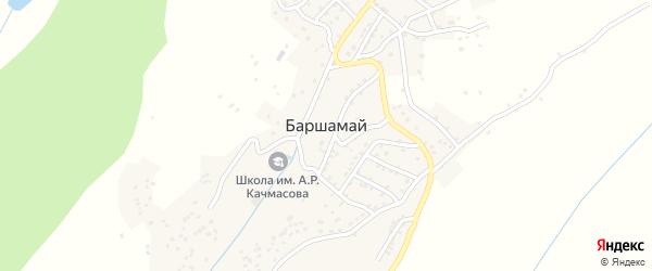 Солнечная улица на карте села Баршамая с номерами домов