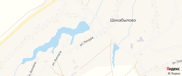 Улица Пичура на карте деревни Шихабылово с номерами домов