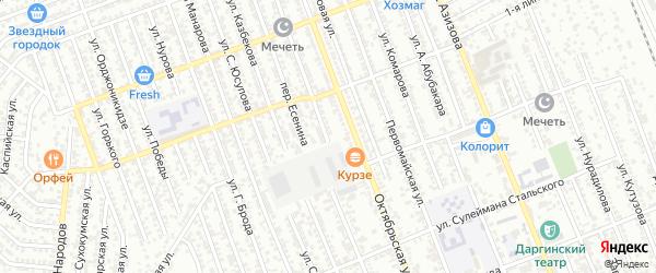 Пионерская улица на карте Избербаша с номерами домов