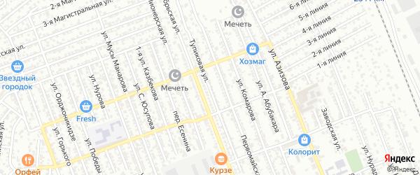 Тупиковая улица на карте Избербаша с номерами домов