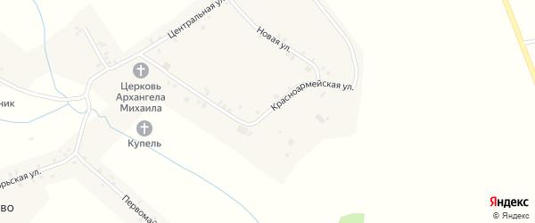Красноармейская улица на карте села Тогаево с номерами домов