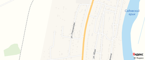 Улица Плеханова на карте Волжского села с номерами домов