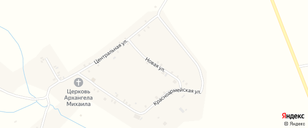 Новая улица на карте села Тогаево с номерами домов