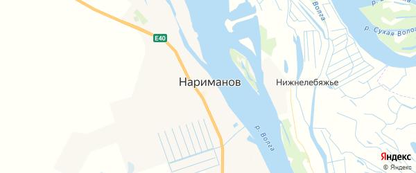 Карта Нариманова с районами, улицами и номерами домов
