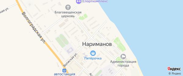 Центральная улица на карте Нариманова с номерами домов