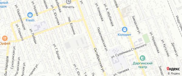 Октябрьская улица на карте Избербаша с номерами домов