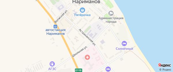 Астраханская улица на карте Нариманова с номерами домов