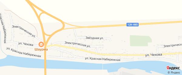 Звездная улица на карте поселка Красные Баррикады с номерами домов