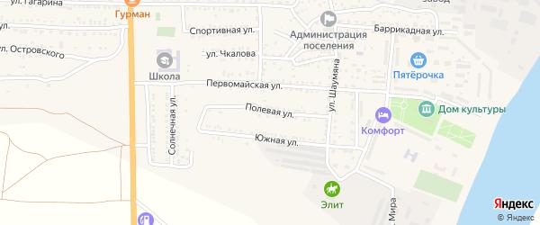 Полевая улица на карте поселка Красные Баррикады с номерами домов
