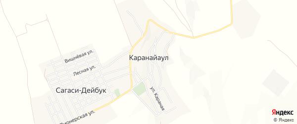 Карта села Караная Аула в Дагестане с улицами и номерами домов