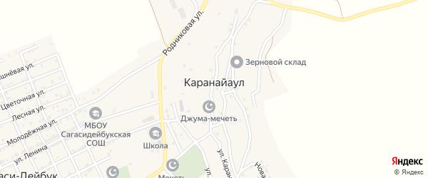 Караная улица на карте села Караная Аула с номерами домов