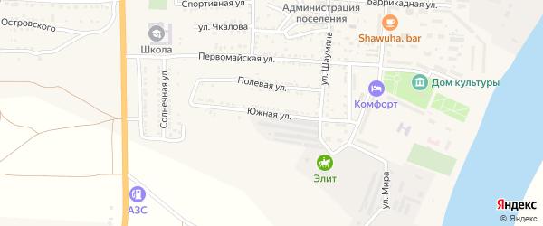 Южная улица на карте поселка Красные Баррикады с номерами домов