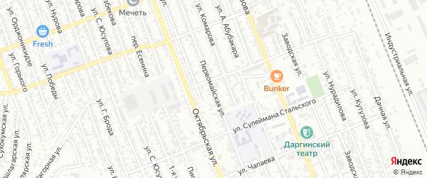 Первомайская улица на карте Избербаша с номерами домов