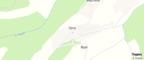 Улица Мира на карте села Урги с номерами домов